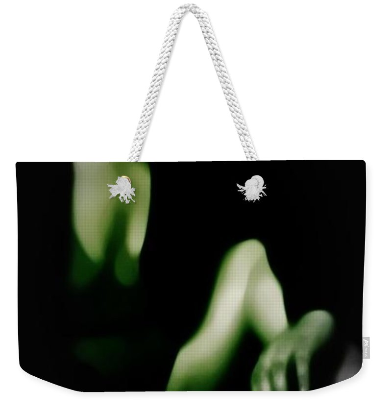 Black Weekender Tote Bag featuring the photograph Desire by Jessica Shelton