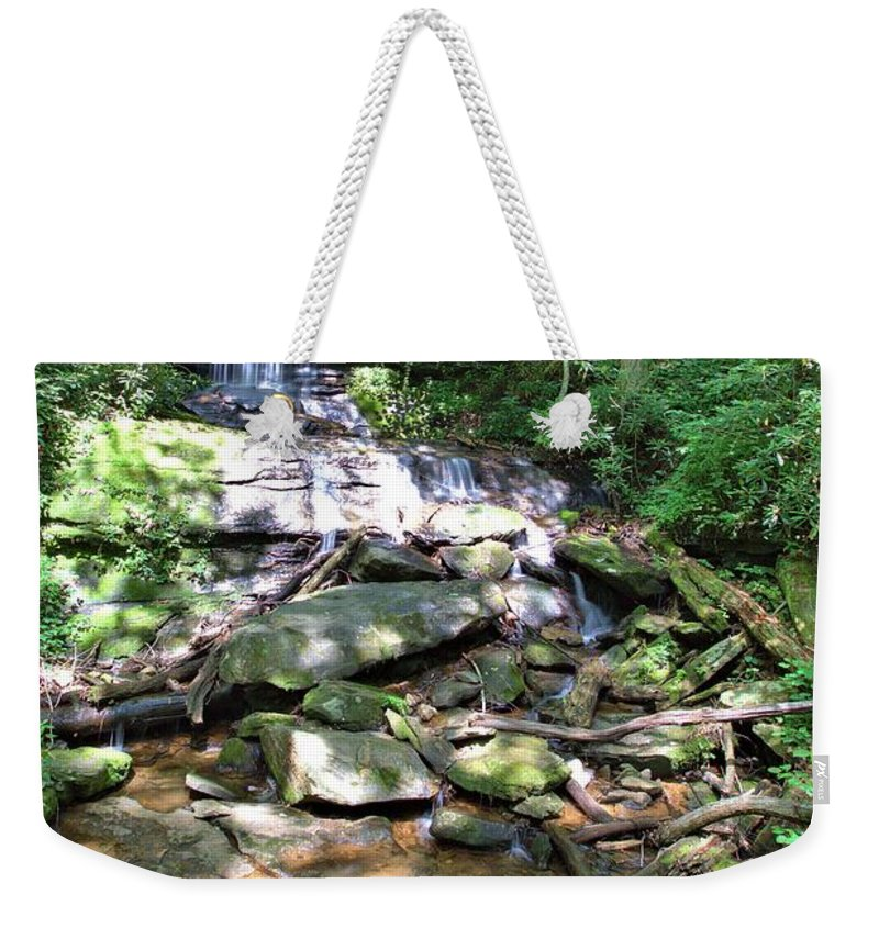 8786 Weekender Tote Bag featuring the photograph Desoto Falls by Gordon Elwell