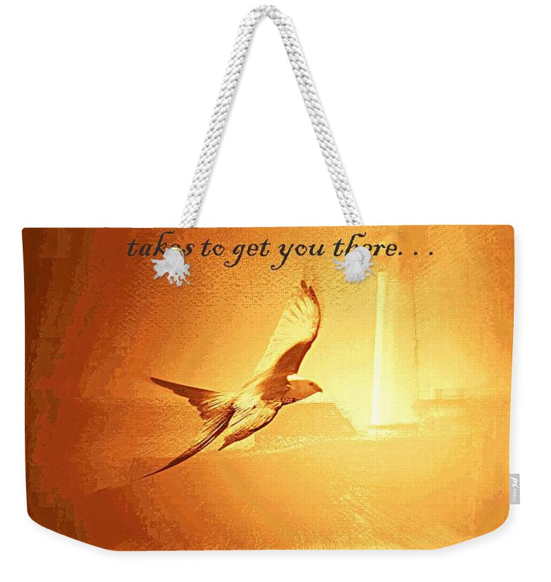 Destination And Desire Weekender Tote Bag featuring the photograph Destination And Desire by Travis Truelove