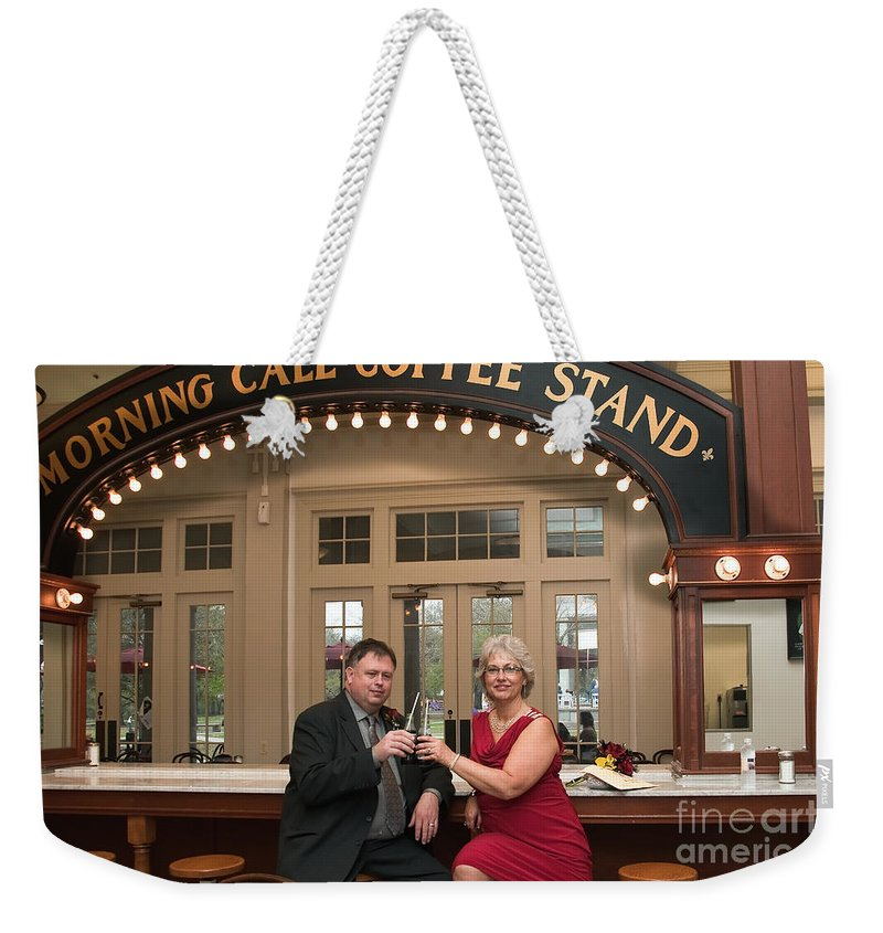 Destination Wedding Weekender Tote Bag featuring the photograph Destination Wedding-m And D-4 by Kathleen K Parker