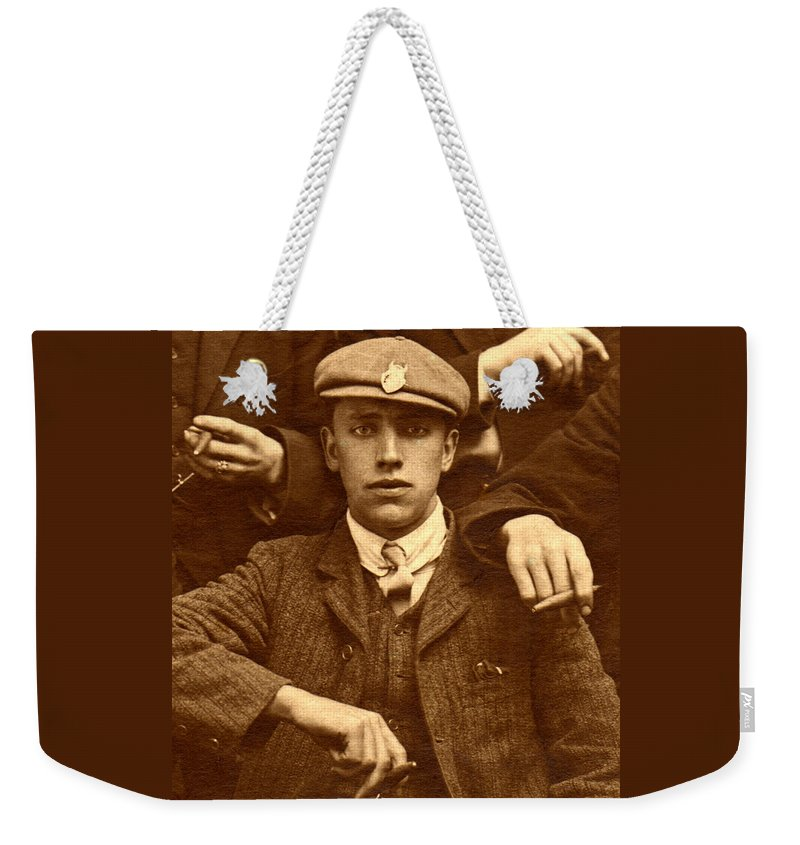 Sepia Weekender Tote Bag featuring the photograph Destiny by Rodger Insh