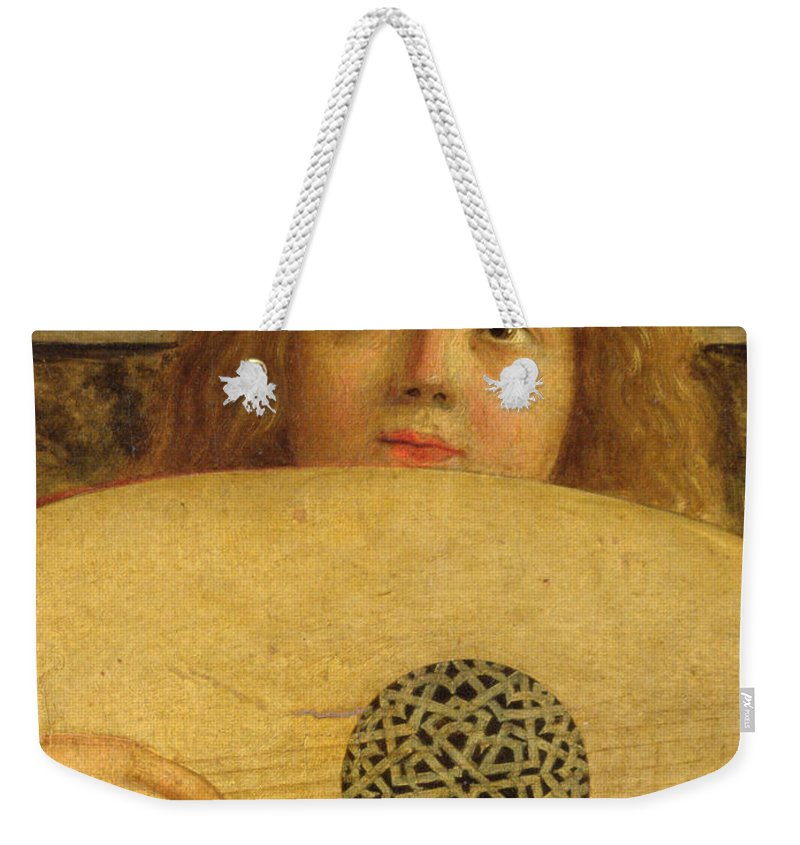 Musical Weekender Tote Bag featuring the painting Detail Of The San Giobbe Altarpiece by Giovanni Bellini