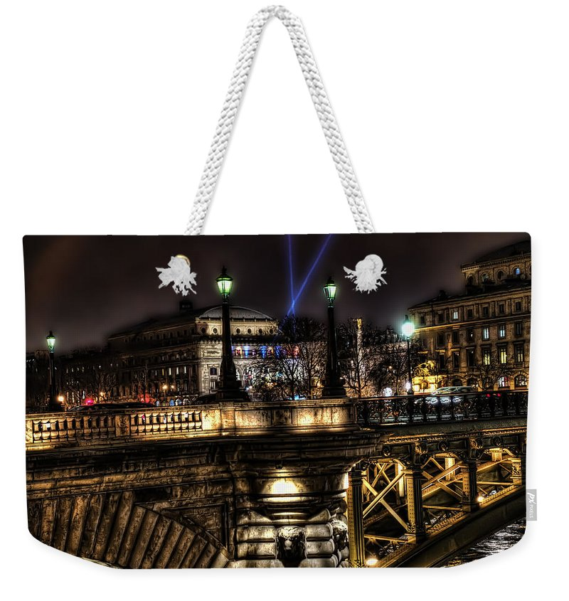 Arch Weekender Tote Bag featuring the photograph Detailed Bridge by Evie Carrier