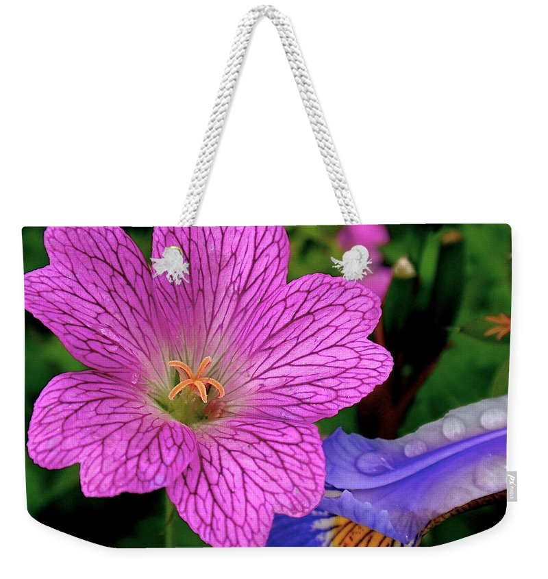 Flower Weekender Tote Bag featuring the photograph Details by Rona Black