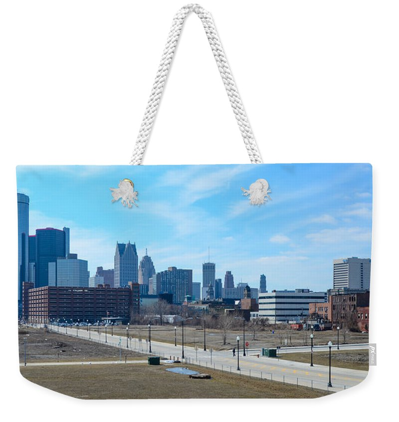 Ambassador Bridge Weekender Tote Bag featuring the photograph Detroit by Gales Of November