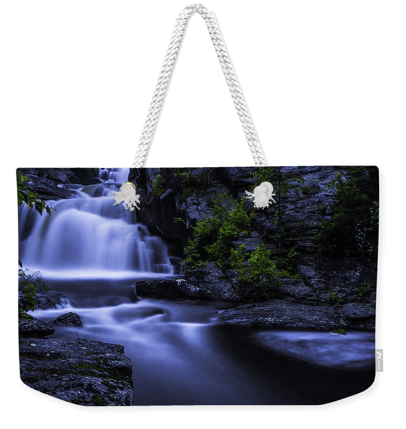 Waterfall Weekender Tote Bag featuring the photograph Devil's Hopyard Waterfall by Billy Bateman