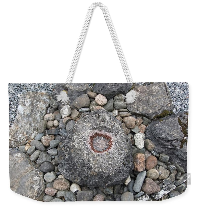 Uk Weekender Tote Bag featuring the photograph Devon Dartington Hall Stones by Coventry Wildeheart