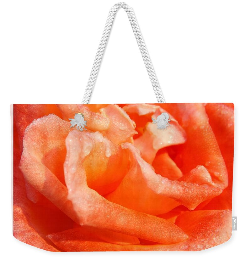Love Weekender Tote Bag featuring the photograph Dew Soaked Folklore by Sara Raber