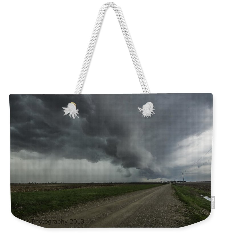 Weekender Tote Bag featuring the photograph Diagonal Shelf Clooud by Paul Brooks