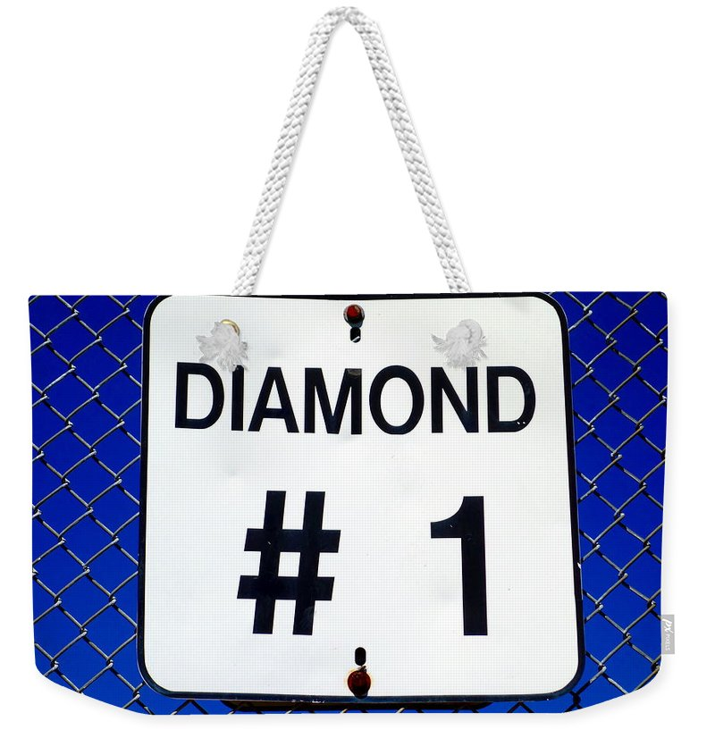 Diamond Weekender Tote Bag featuring the photograph Diamond 1 by Valentino Visentini