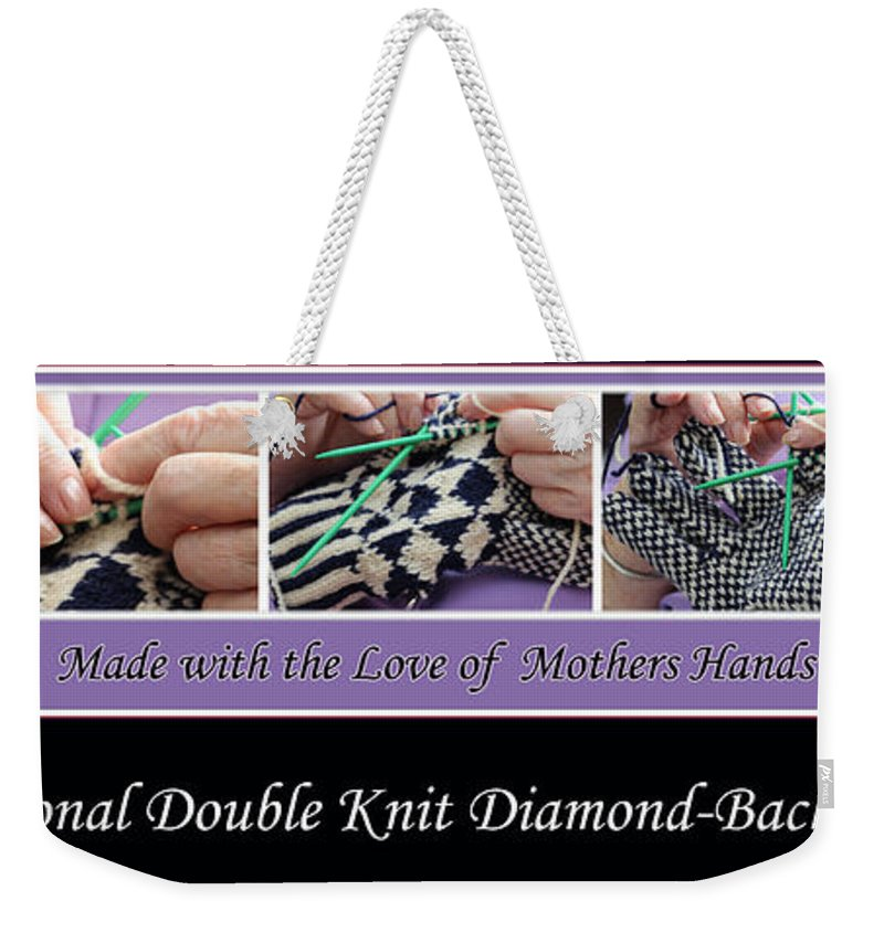 Knitting Weekender Tote Bag featuring the photograph Diamond Back Gloves by Barbara Griffin