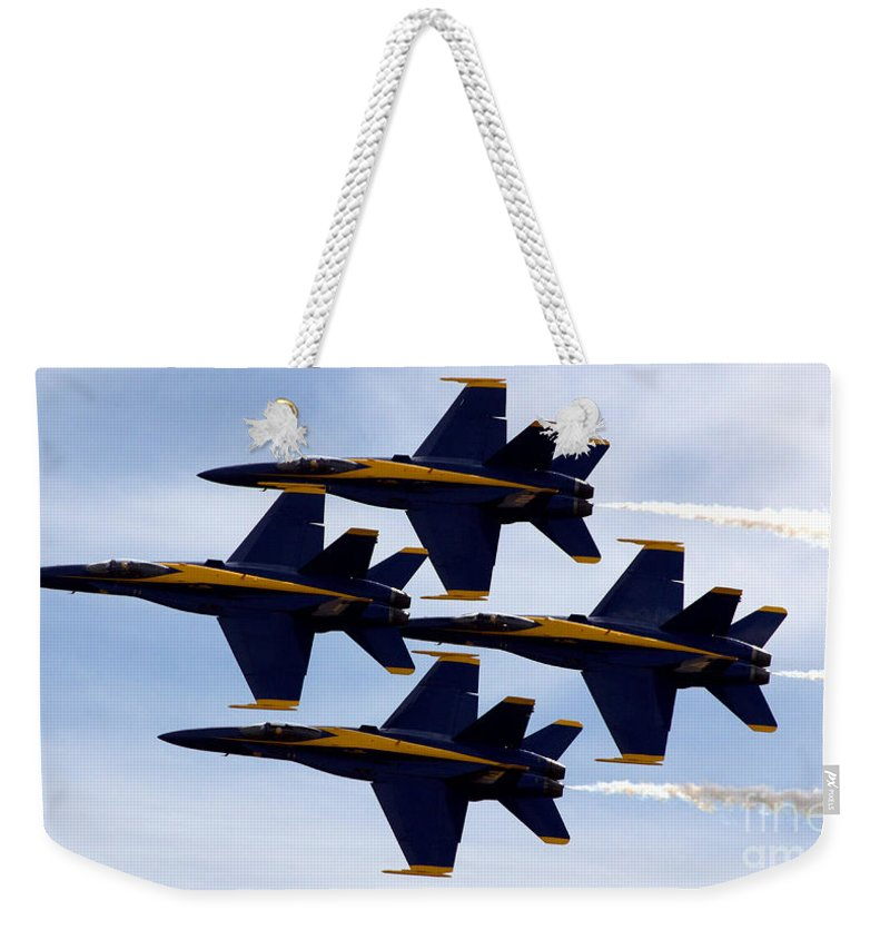 Blue Weekender Tote Bag featuring the photograph Diamond Formation by Kevin Fortier