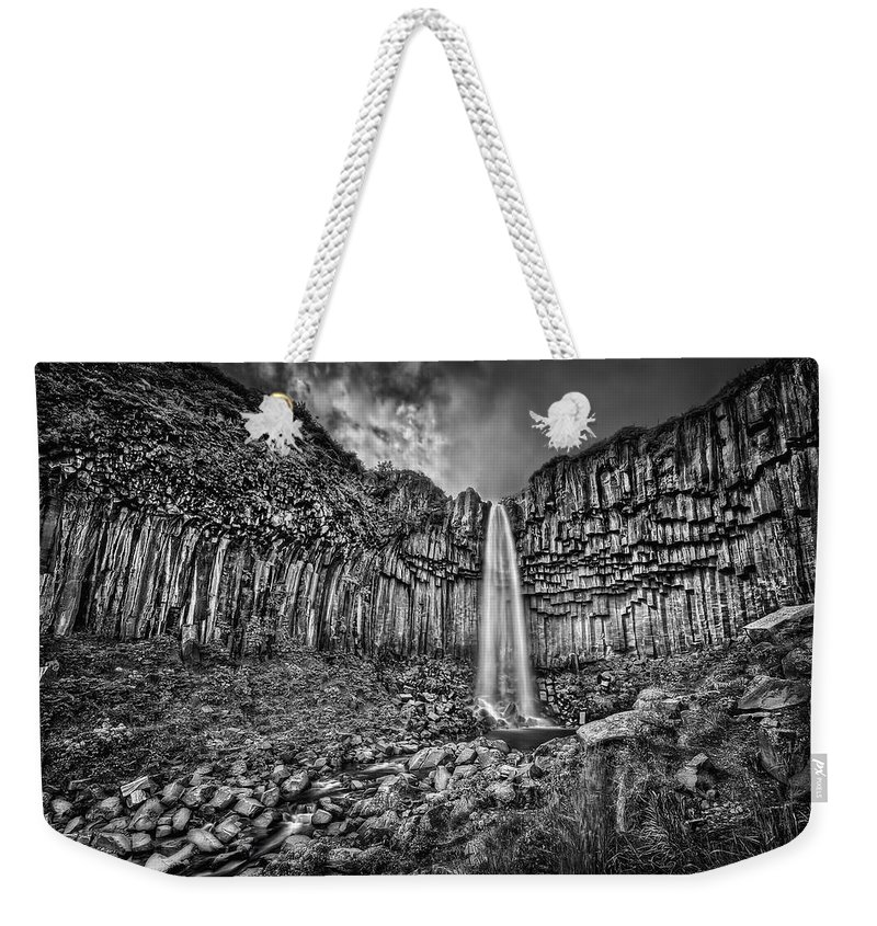Svartifoss Weekender Tote Bag featuring the photograph Diamond In The Rough by Evelina Kremsdorf