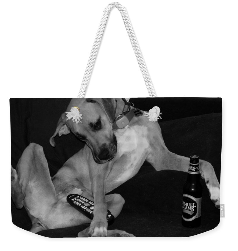 Black And White Weekender Tote Bag featuring the photograph Diesel In Black And White by Rob Hans