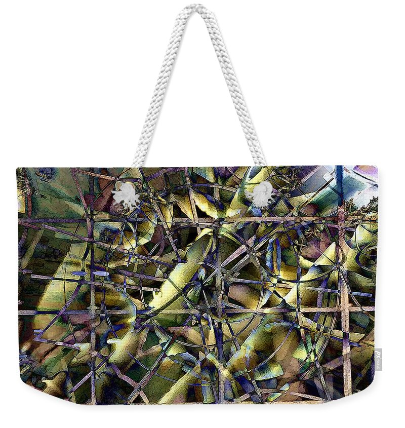 Abstract Weekender Tote Bag featuring the digital art Difference Window by Ron Bissett