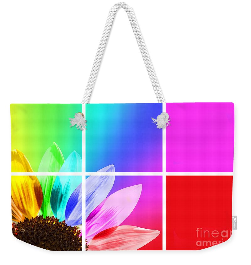 Sunflower Weekender Tote Bag featuring the photograph Diffraction Of Light by Delphimages Photo Creations
