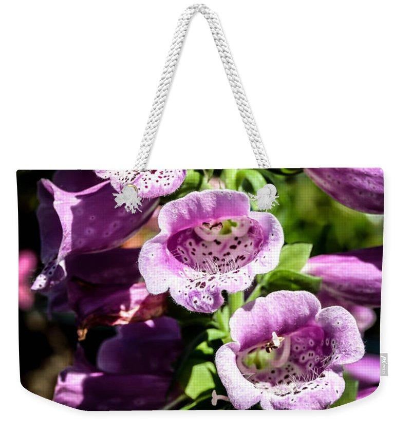 Digitalis Weekender Tote Bag featuring the photograph Digitalis by Sherman Perry