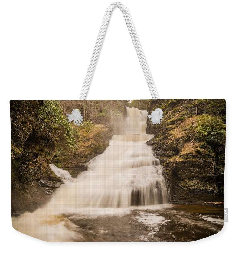 Pennsylvania Weekender Tote Bag featuring the photograph Dingmans by Kristopher Schoenleber