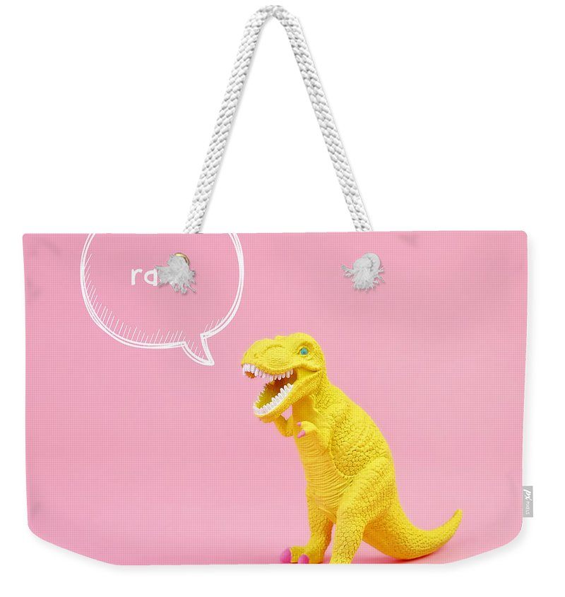 Animal Weekender Tote Bag featuring the photograph Dinosaur Rawr by Juj Winn