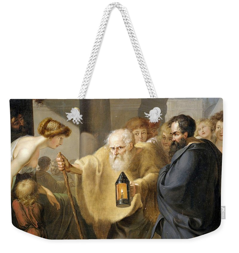 Unknown Weekender Tote Bag featuring the painting Diogenes by Unknown