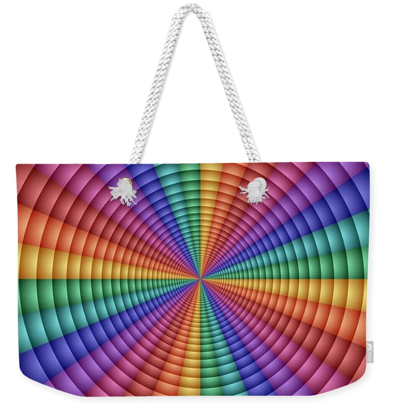 Geometric Weekender Tote Bag featuring the digital art Directrix by TJ Art