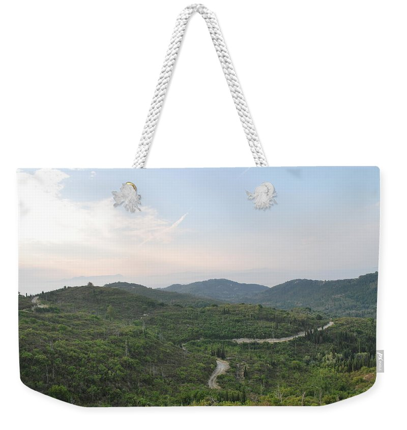 Landscape Weekender Tote Bag featuring the photograph Dirt Roads 3 by George Katechis