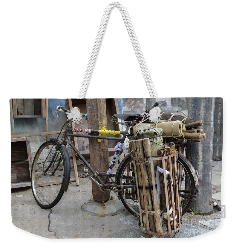 Bicycle Weekender Tote Bag featuring the photograph Disney Bicycle by Dale Powell