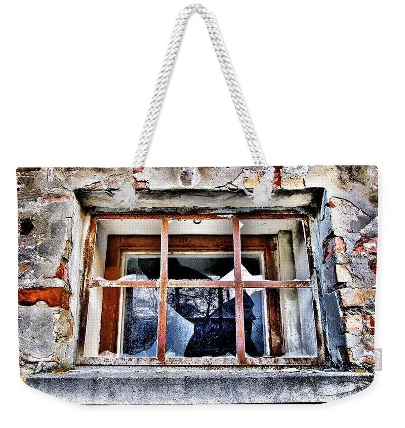 Window Weekender Tote Bag featuring the photograph Disrespected by Marianna Mills