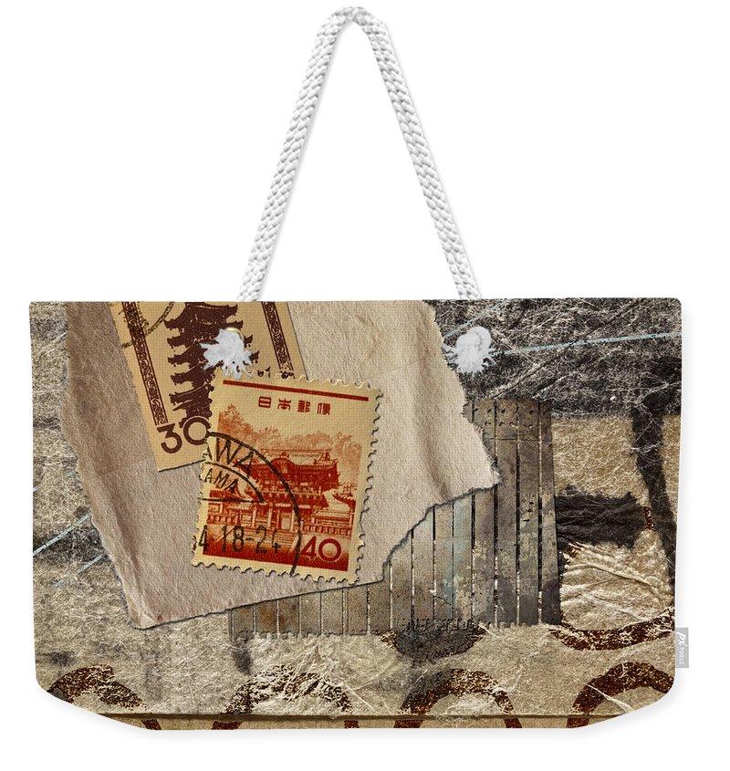 Pagoda Weekender Tote Bags