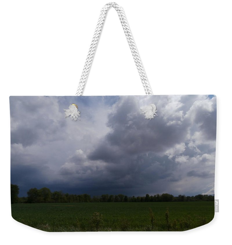 Rain Weekender Tote Bag featuring the photograph Distant Storm by Dan McCafferty