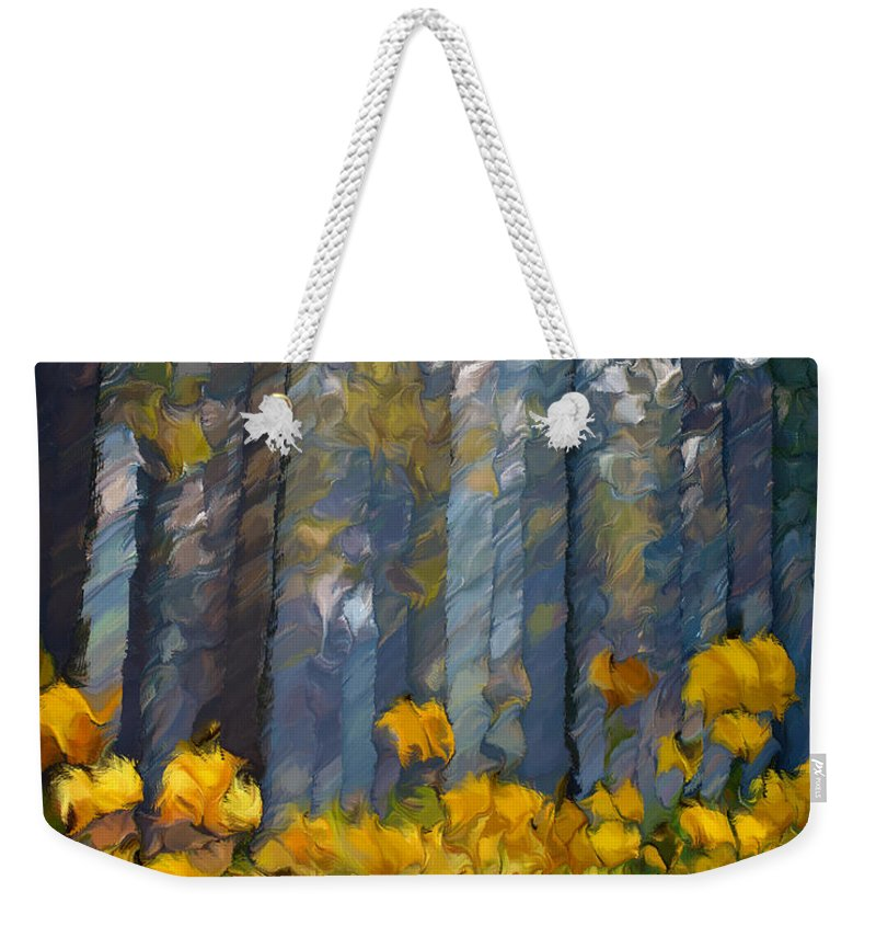 Abstract Weekender Tote Bag featuring the painting Distorted Dreams By Day by Georgiana Romanovna