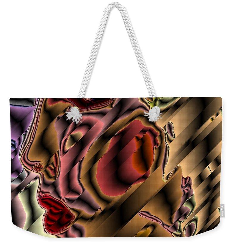 Digital Weekender Tote Bag featuring the digital art Diva Of The Sixth Dimension by David Skrypnyk