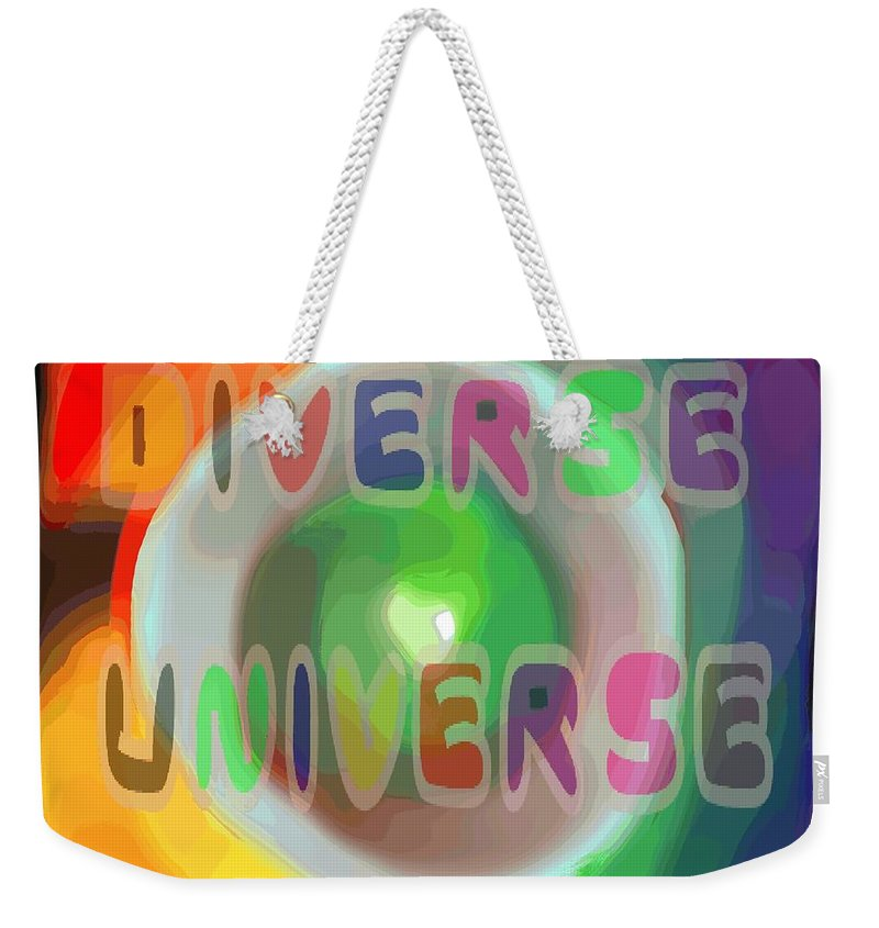 Diverse Weekender Tote Bag featuring the painting Diverse Universe by Pharris Art