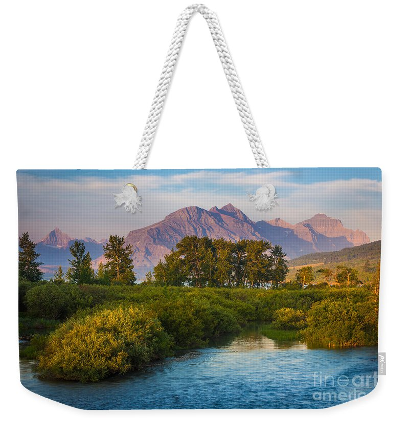 America Weekender Tote Bag featuring the photograph Divide Creek Morning by Inge Johnsson