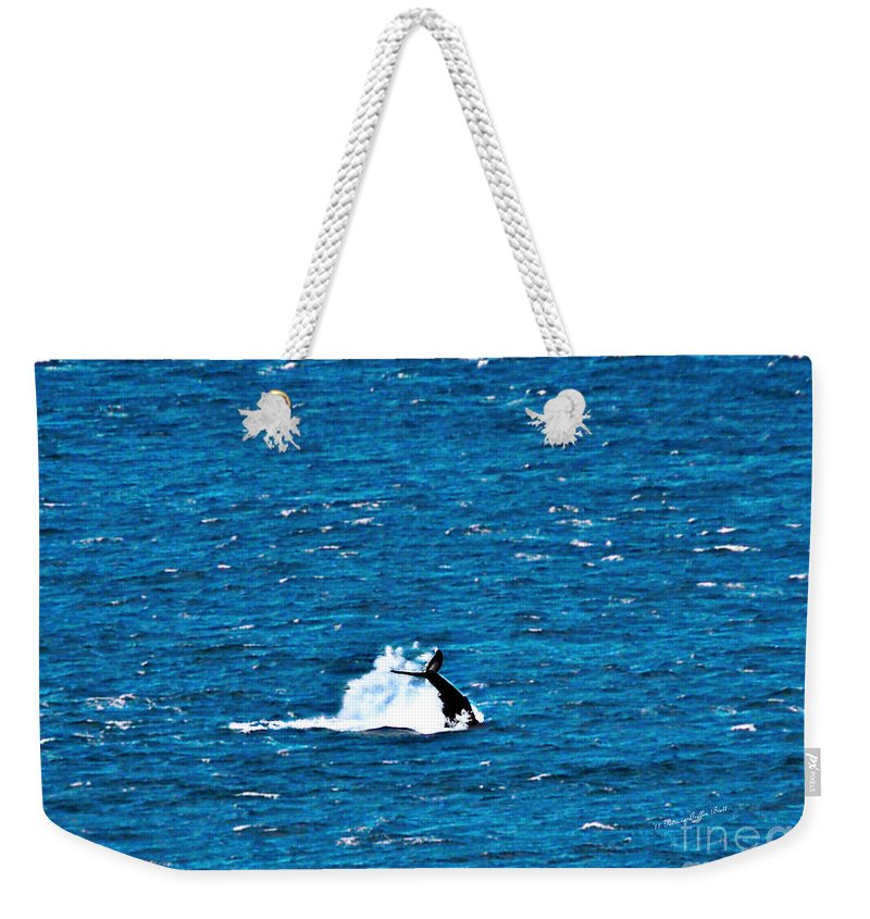 Whale Photography Weekender Tote Bag featuring the photograph Diving I by Patricia Griffin Brett