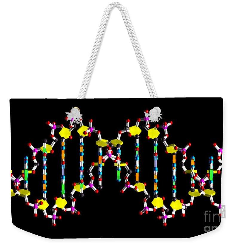 Acid Weekender Tote Bag featuring the digital art Dna 40 by Russell Kightley