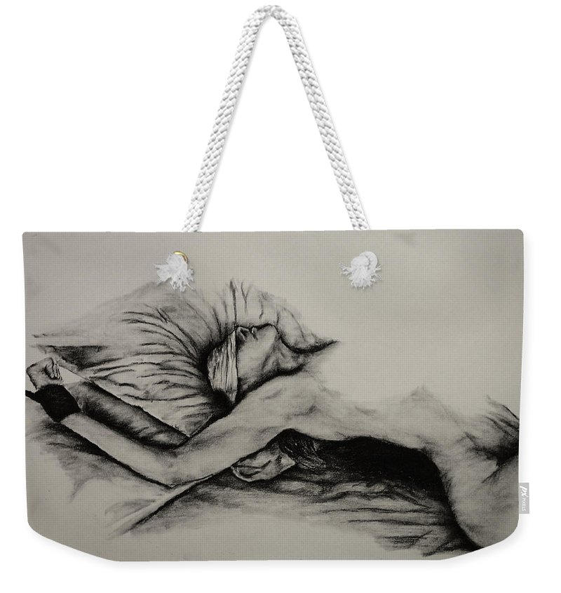 Female Weekender Tote Bag featuring the drawing Do As You Wish by Tim Brandt