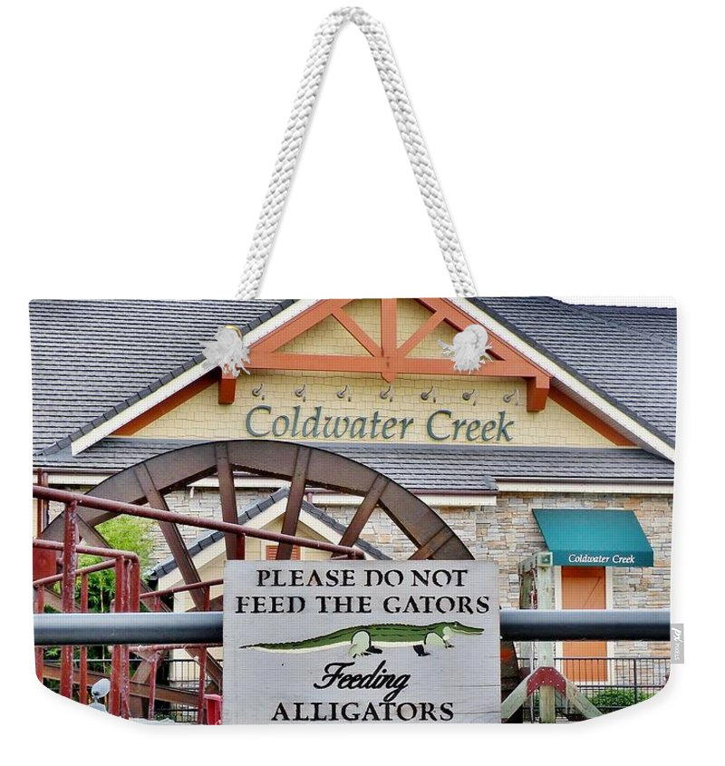 Alligator Weekender Tote Bag featuring the photograph Do Not Feed The Gators by Kim Bemis