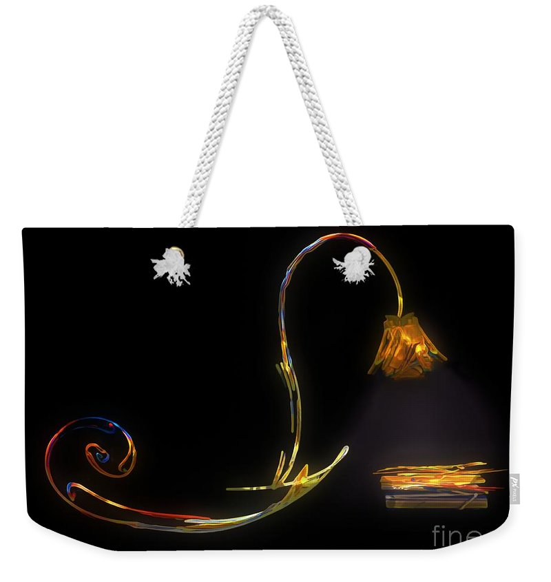 Lamp Weekender Tote Bag featuring the painting Do Not Go Gentle by RC DeWinter