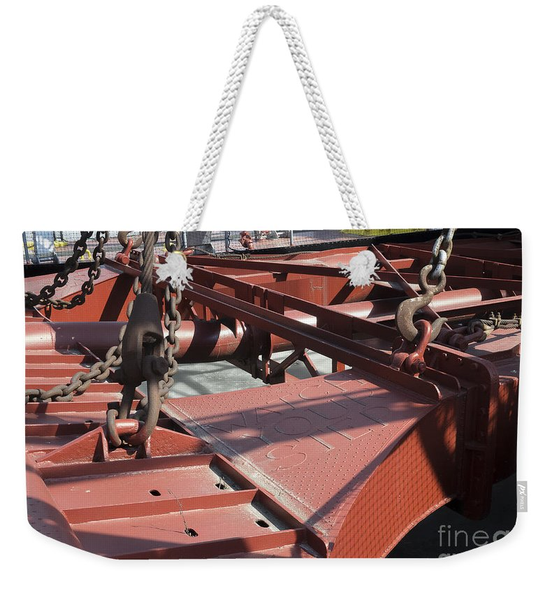 Dubuque Weekender Tote Bag featuring the photograph Watch Your Step by Steven Ralser
