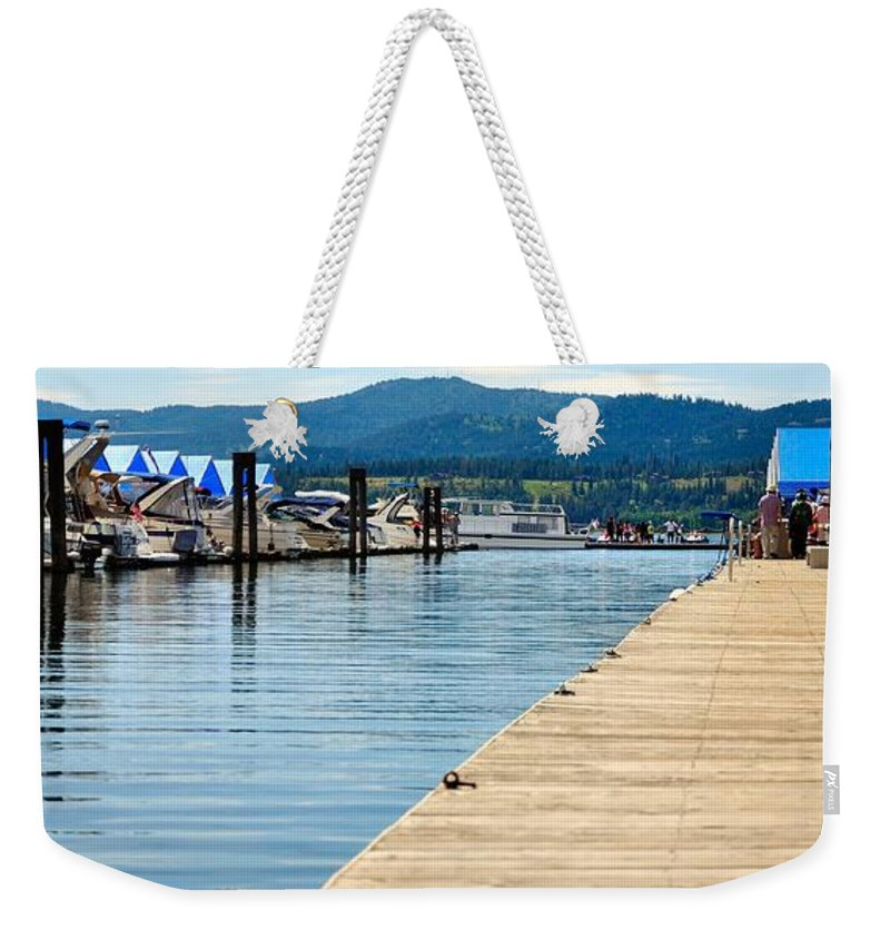 Water Weekender Tote Bag featuring the photograph Dock 6767 by Jerry Sodorff
