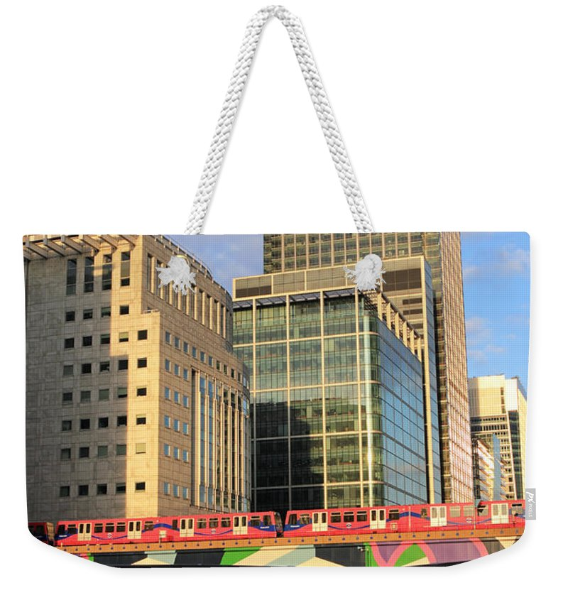 Docklands London Weekender Tote Bag featuring the photograph Docklands London by Julia Gavin