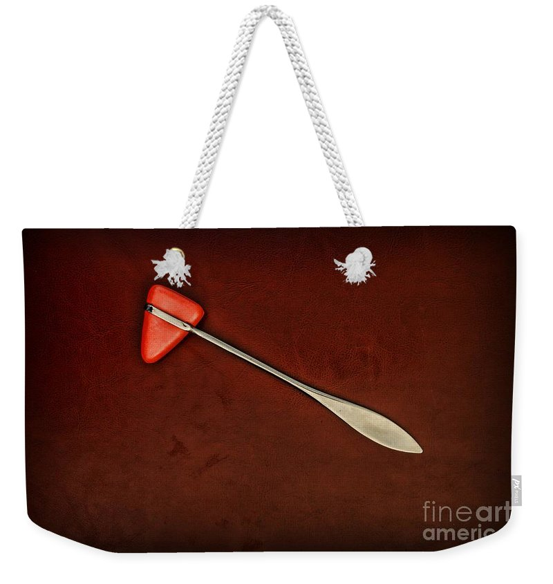 Knee Weekender Tote Bag featuring the photograph Doctor - Orthopedic Tool - Reflex Hammer by Paul Ward
