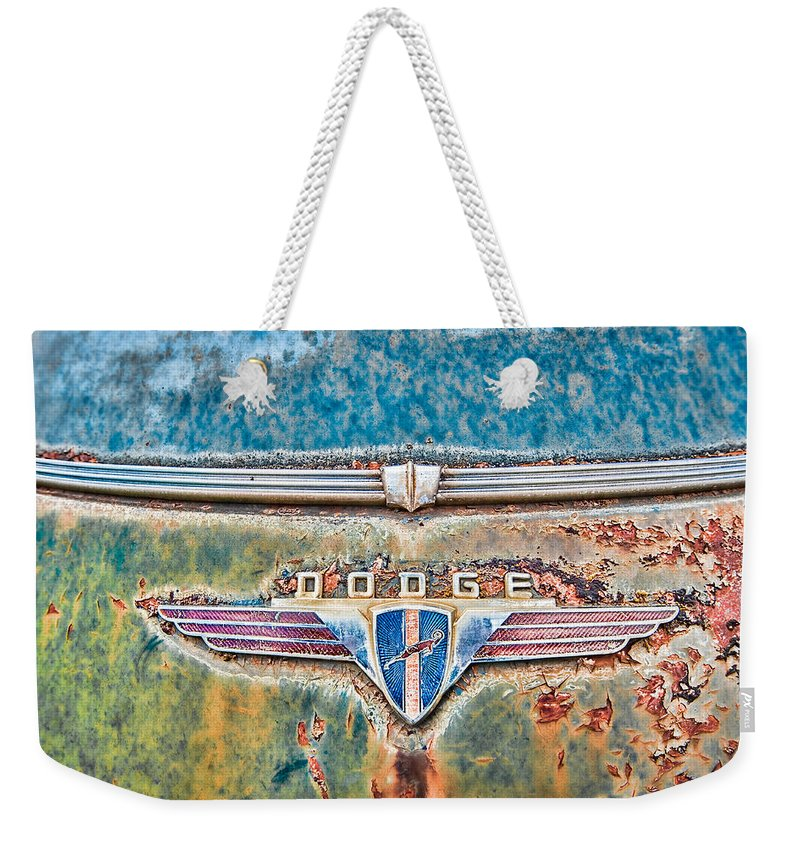 Car Weekender Tote Bag featuring the photograph Dodge by David Kay