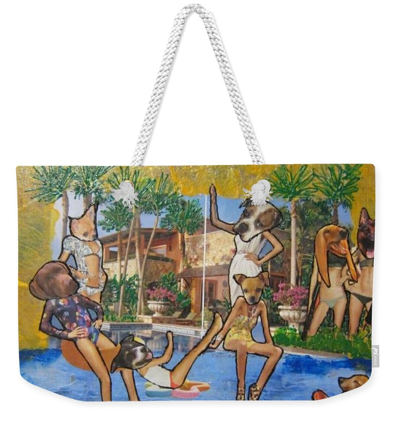 Dogs Weekender Tote Bag featuring the painting Dog Days Of Summer by Lisa Piper