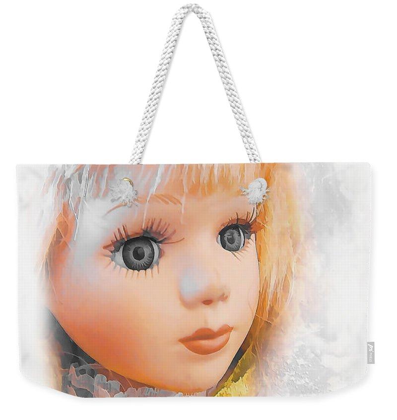Miss. Doll Weekender Tote Bag featuring the painting Doll 622-12-13 Marucii by Marek Lutek