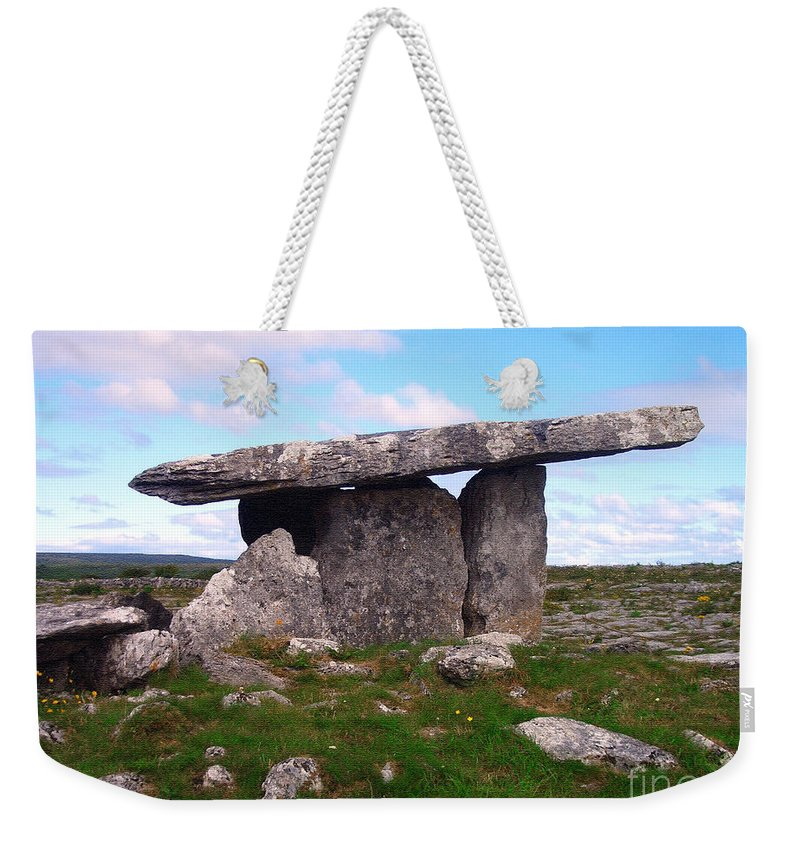 Burren Weekender Tote Bag featuring the photograph Dolmen by Jack Gannon