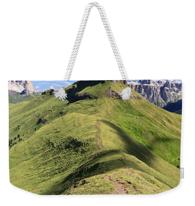 Alpine Weekender Tote Bag featuring the photograph Dolomites - Crepa Neigra by Antonio Scarpi