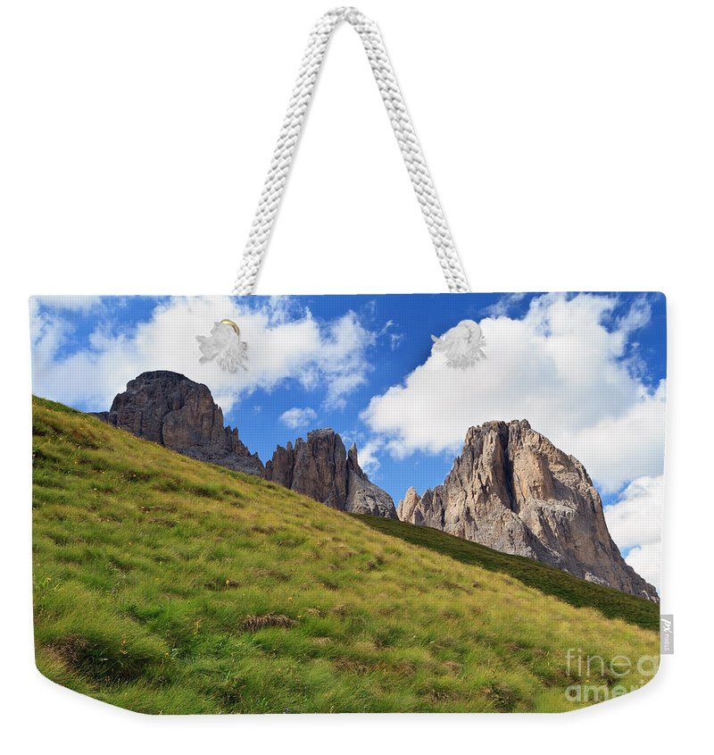 Alpine Weekender Tote Bag featuring the photograph Dolomites On Summer by Antonio Scarpi