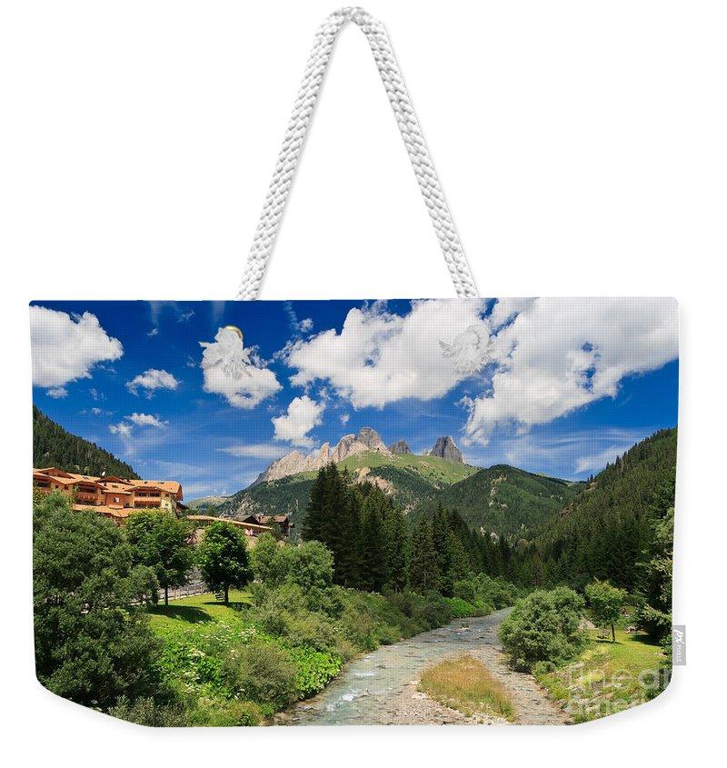 Alpine Weekender Tote Bag featuring the photograph Dolomiti - Fassa Valley by Antonio Scarpi